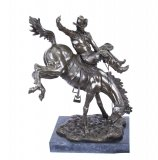Bronze Cowboy on Horse After Remington