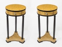 Pair of Art Deco Style Ebonised Maple Occasional Tables