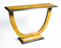 Art Deco Style Birdseye Maple Console Table