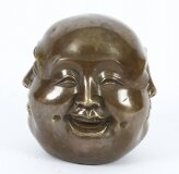 Bronze Four Face Buddha Brahma Hindu Sculpture tiny