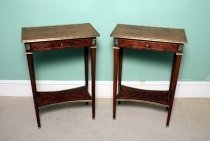 02204-Pair-Inlaid-Burr-Walnut-Occasional---End-Tables