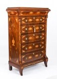 Antique Dutch Marquetry Walnut Seven Drawer Chest Early 19th C