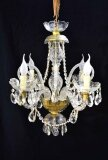 Vintage Small Venetian 4 Light Crystal Chandelier