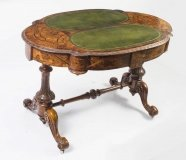 Antique Victorian Burr Walnut Writing Table