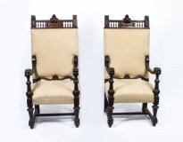05392-Antique-Pair-of-Carved-Oak-Throne-Chairs-c.1900