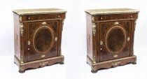 05427-Pair-Victorian-Style-Burr-Walnut-Marble-top-side-cabinets