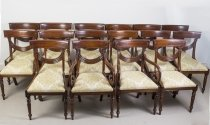 Set 16 Vintage Regency Style Dining Chairs Swag Back