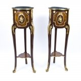 Pair of Louis XV Kingwood & Walnut Pedestals Stands
