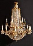 French Empire Style Two Tier 18 light Ballroom Chandelier