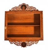 Antique Sorrento Olive Wood Wall Hanging Cabinet