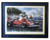Vintage Print Signed Ferrigno & 34 Start to Finish& 34 Niki Lauda
