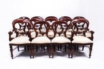 06748-Set-14-Victorian-Style-Balloon-back-Dining-Chairs