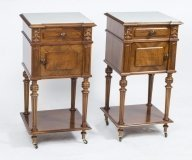 06772-Antique-pair-of-French-Walnut-Bedside-Cabinets-c.1880