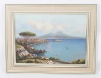 06875-Vintage-Oil-Painting-of-the-Bay-of-Naples