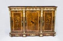 06970-Antique-Victorian-Burr-Walnut-Marquetry-Credenza-c.1860