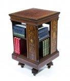 07052-Antique-Mahogany-Inlaid-Revolving-Bookcase-c.1890