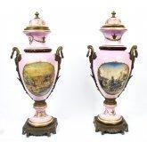07078-Vintage-Huge-Pair-Sevres-Style-Porcelain-&-Ormolu-Vases