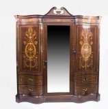 Antique Victorian wardrobe by Edwards & Roberts
