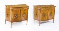 07091-Antique-Pair-Satinwood-Serpentine-Cabinets-C1900
