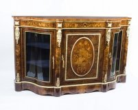 07101-Antique-Victorian-Serpentine-Burr-walnut-marquetry-Credenza-c.1860