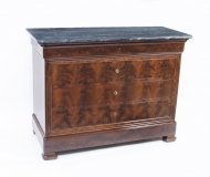 07103-Antique-French-Empire-Commode-Chest-Marble-Top-C1840
