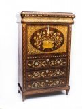 07163-Antique-Dutch-Marquetry-Mahogany-Secretaire-Cabinet-c1800