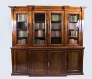 07175-Antique-Victorian-Flame-Mahogany-Bookcase-c.1850