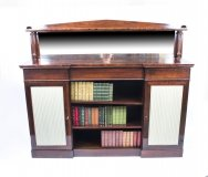 Antique William IV Rosewood Chiffonier Open Bookcase