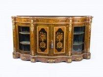 07257-Antique-Victorian-Burr-walnut-marquetry-serpentine-Credenza-c.1860