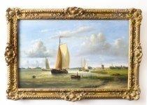 07313-AntiqueOil-Painting-Hendrick-Hulk---Dutch-Shipping-