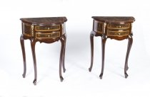 Stunning Pair Burr Walnut Bedside Cabinets Side Tables