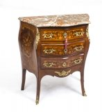 Antique French Louis XV Commode Rouge Marble