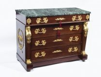 Antique French Empire Commode Chest Marble Top