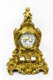 Antique French Gilt Bronze Rococo Mantel Clock Dated 1893