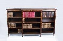 07429-Antique-Edwardian-Inlaid-Mahogany-Open-Bookcase-C1900