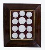07478-Antique-Set-12-Plaster-Framed-Intaglios-of-Monarchs-c.1790