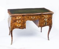 Antique French Pollard Oak Writing Table Desk