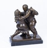 07534-Bronze-Sculpture-of-Couple-Dancing-the-Tango---Botero