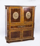 Burr Walnut and Kingwood Cocktail Cabinet Dry Bar 20th C