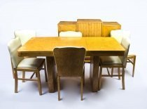07626-Antique-Art-Deco-Birdseye-Maple-Dining-Suite-Set-c.1930
