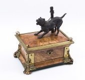 07627-Antique-French-Burr-Walnut-Brass-Mounted-Bulldog-Casket-C1870