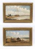 07630-Antique-Pair-English-School-Oil-Paintings-Fishermen-C1850