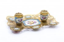 07647-Antique-French-Ormolu-&-Sevres-Porcelain-Standish-Inkstand
