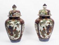 07667-Antique-Large-Pair-Japanese-Imari-Porcelain-Vases-c.-1870