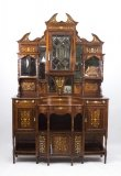 07675W-Antique-Victorian-Rosewood-Ivory-Inlaid-Side-Cabinet-C.1890