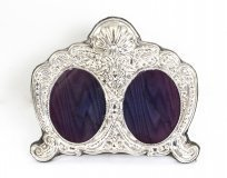 Stunning Art Nouveau Sterling Silver Double Frame Gift Idea