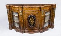 07777-Antique-Victorian-Burr-Walnut-Serpentine-Credenza-c.1860