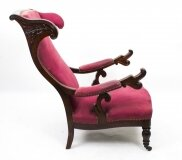 Antique William IV Suede Reclining Armchair
