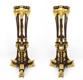 Monumental Pair 6ft Empire Style Giltwood Torcheres
