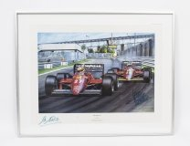 Vintage F1 Print signed by Alboretto & Rene Arnoux C1985